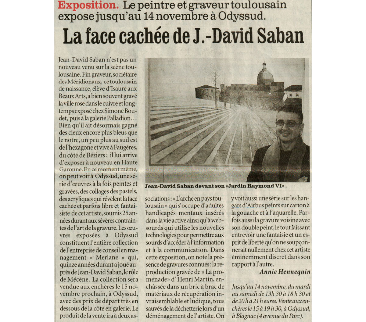 La face cachée de Jean David Saban